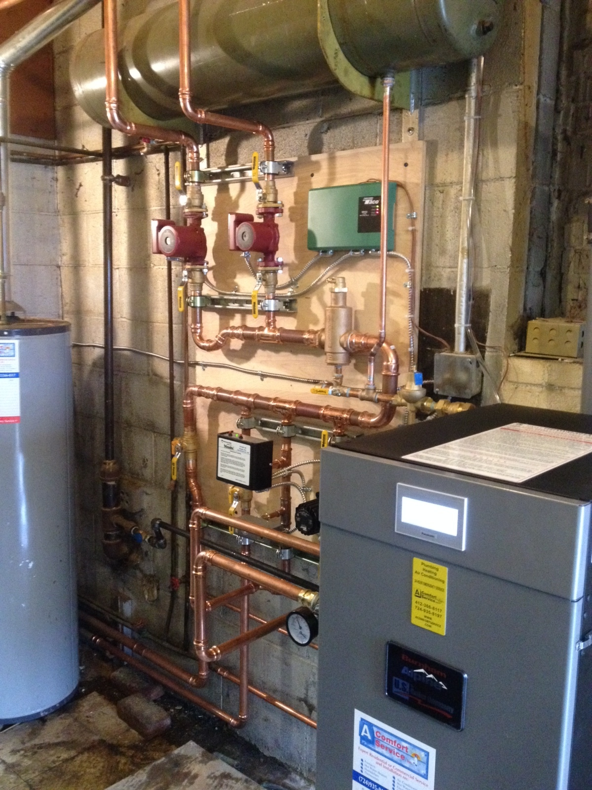 New boiler installation by A-Comfort Service